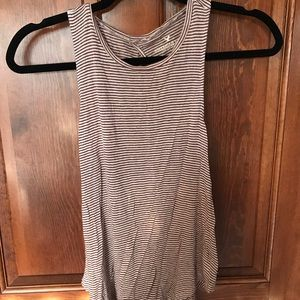 Open Back Striped American Eagle Tank